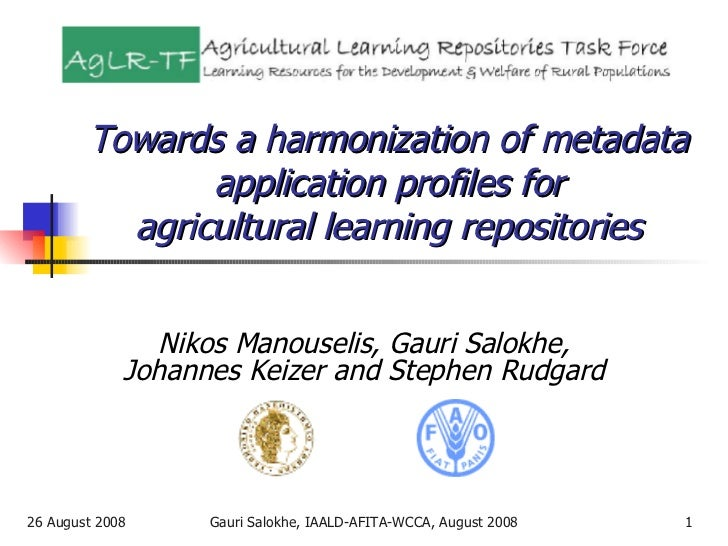 Towards a harmonization of metadata application profiles for agricultural learning repositories