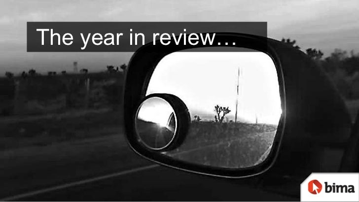 The year in review…