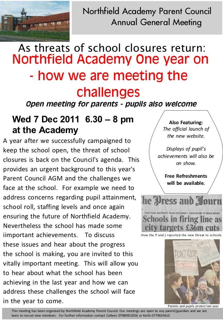 Northfield Academy Parent Council                                                                               Annual Gen...