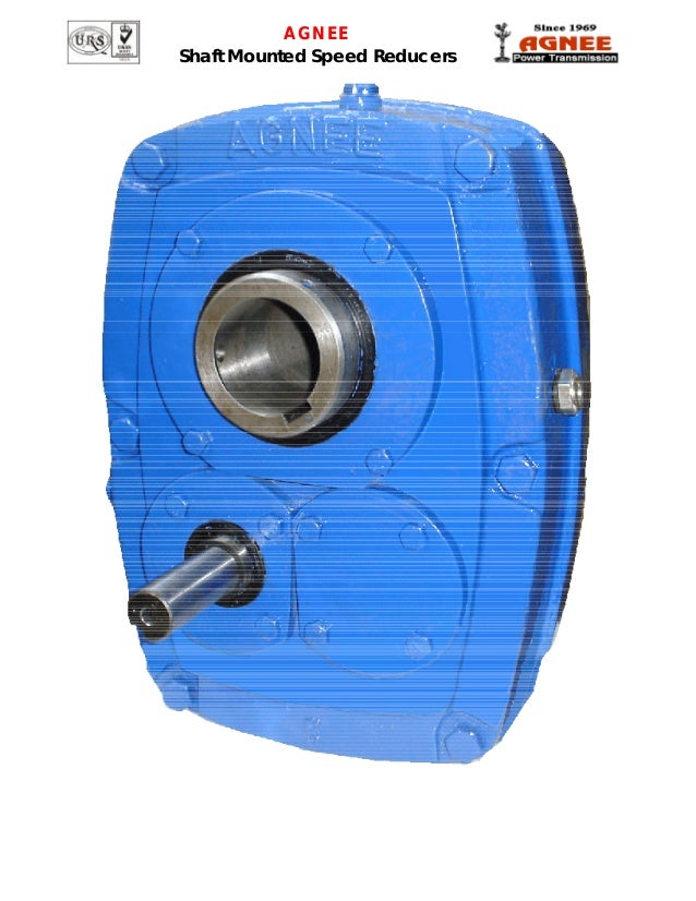 Agnee shaft mounted speed reducer catalogue