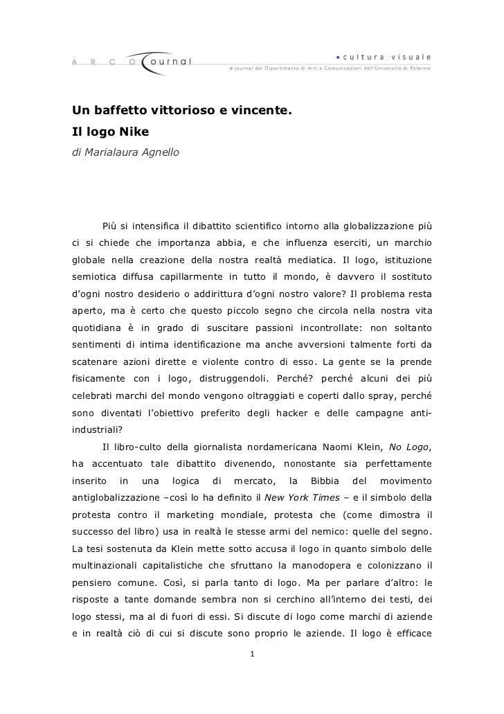 Un baffetto vittorioso e vincente.Il logo Nikedi Marialaura Agnello       Più si intensifica il dibattito scientifico into...