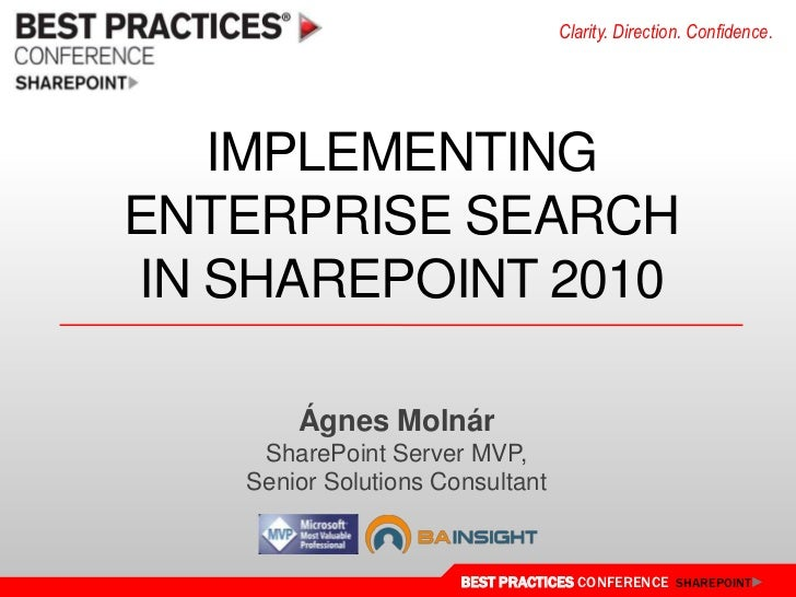 Implementing Enterprise Search in SharePoint 2010