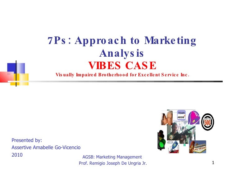 A go vicencio-7_p approach to marketing analysis_vibes case