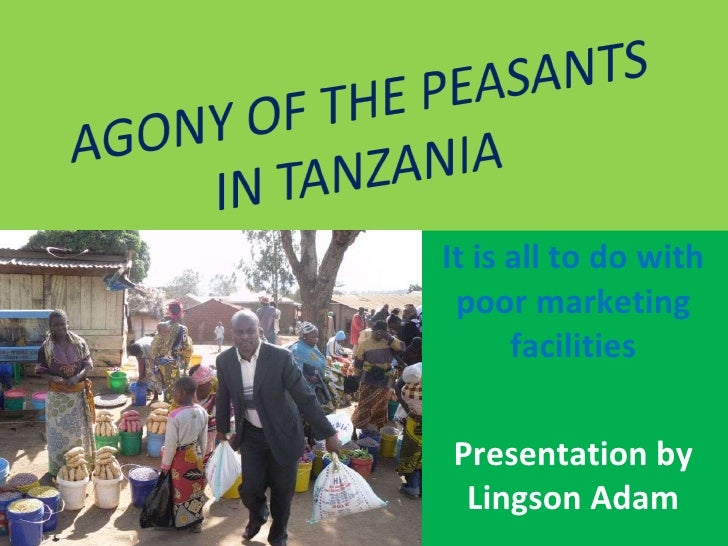 It is all to do with poor marketing facilities Presentation by Lingson Adam
