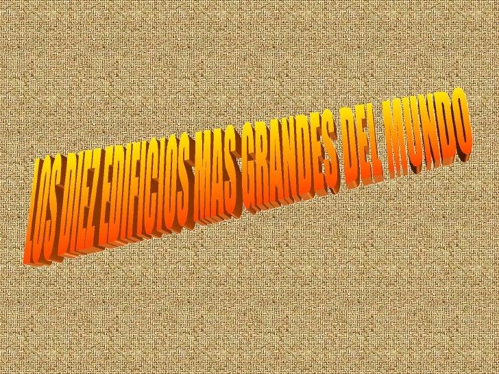 Agosto Torres MáS Altas Del Mundo