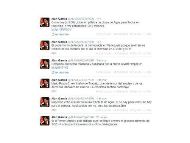 Twitts de Alan Garcia