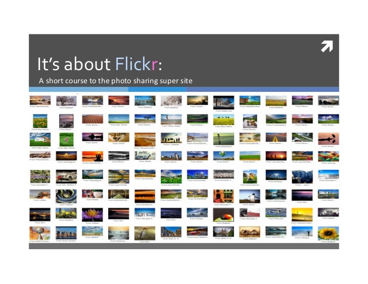 It's about Flickr