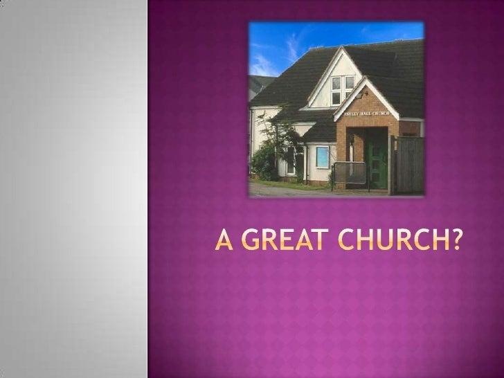 A great church?<br />