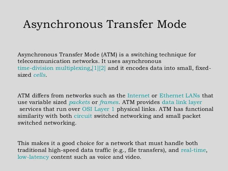 history of asynchronous transfer mode
