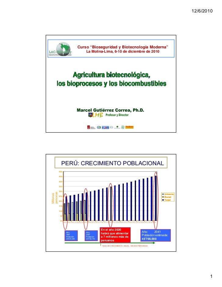 Agribiotecnologia bioprocesos y biocombustibles