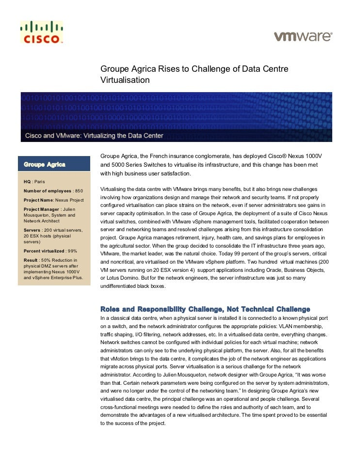 Groupe Agrica Rises to Challenge of Data Centre                                 Virtualisation                            ...