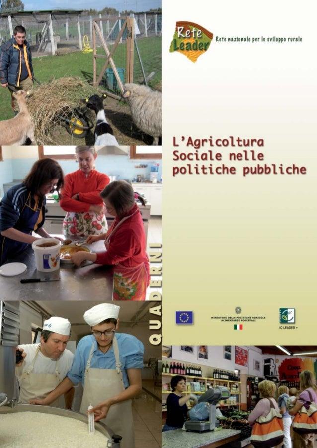L'Agricoltura Sociale nelle politiche pubbliche