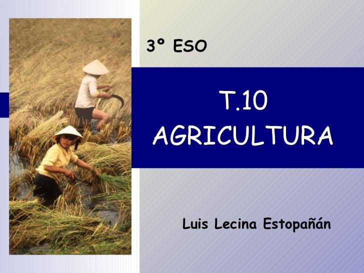 T.10 AGRICULTURA 3º ESO Luis Lecina Estopañán
