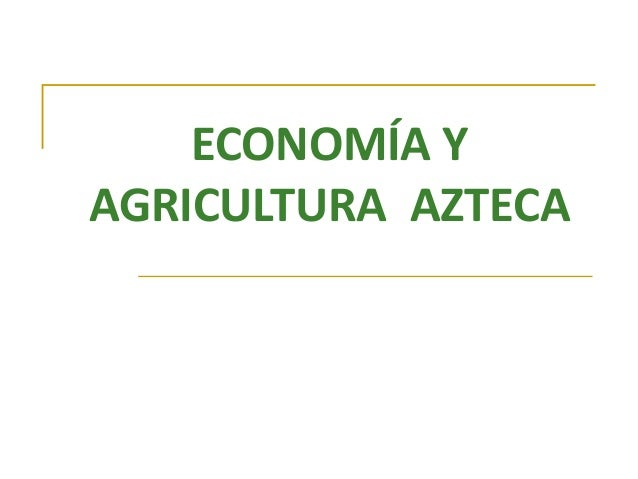 ECONOMÍA YAGRICULTURA AZTECA