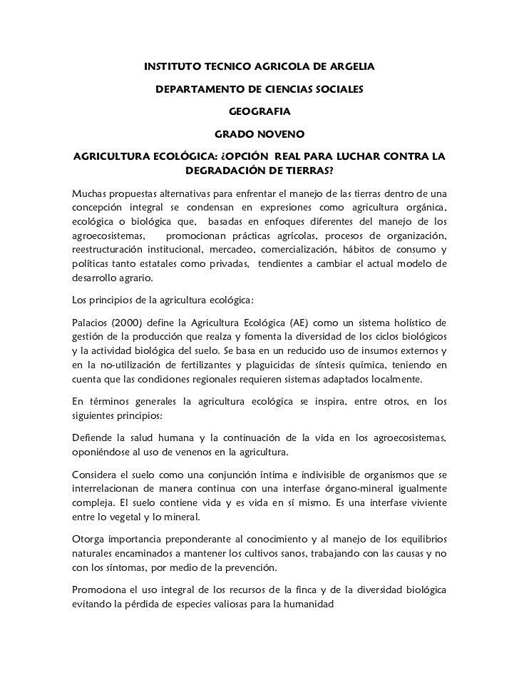 INSTITUTO TECNICO AGRICOLA DE ARGELIA                   DEPARTAMENTO DE CIENCIAS SOCIALES                                 ...