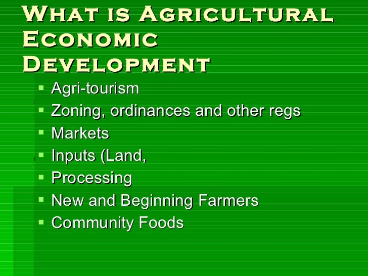 agriculture and economic development This article examines the role of agriculture in the economic development of the more developed caribbean countries — barbados, guyana, jamaica, and trinidad and.