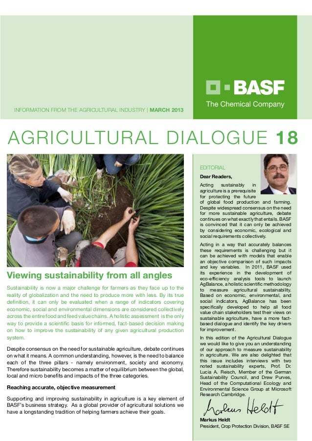 Information from the agricultural industry   MARCH 2013AGRICULTURAL DIALOGUE 18                                           ...