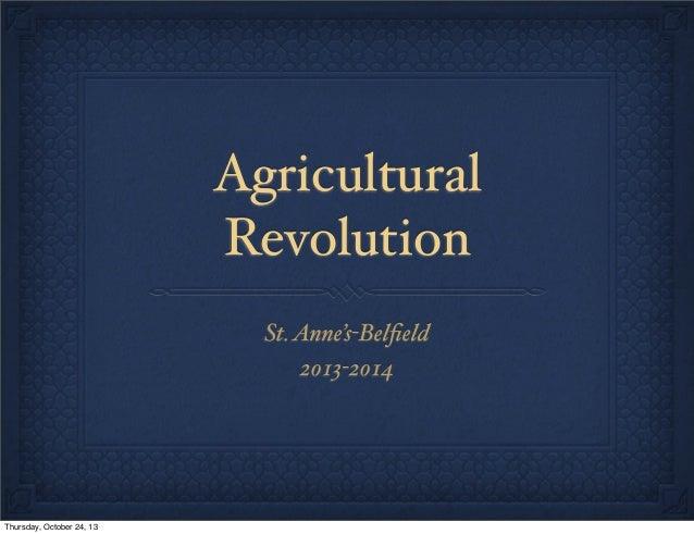 Agricultural revolution 1314