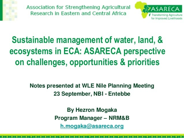 Agricultural water investment challenges and opportunities in eca