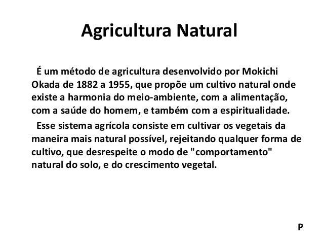 Resultado de imagem para o que é agricultura natural ?