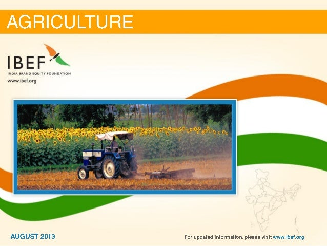 India : Agriculture Sector Report_August 2013