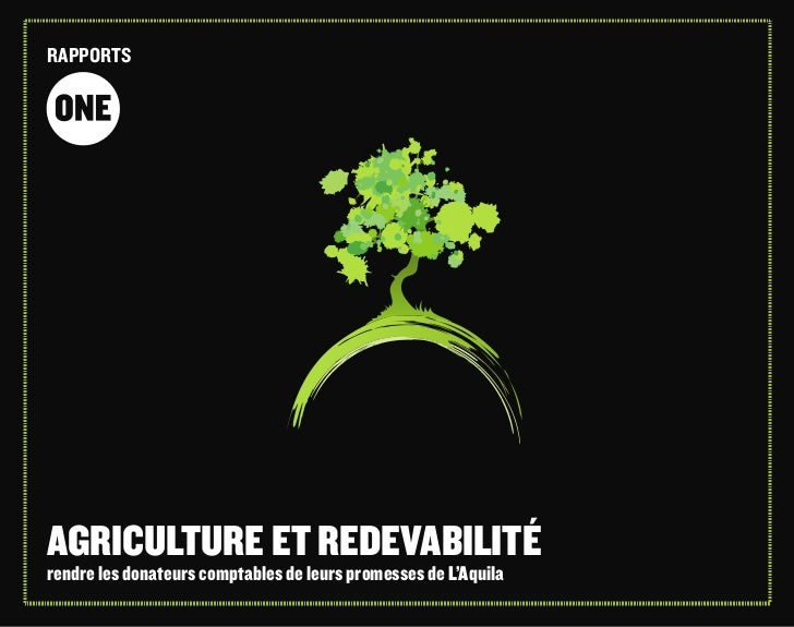 Agriculture accountability report_french by ONE