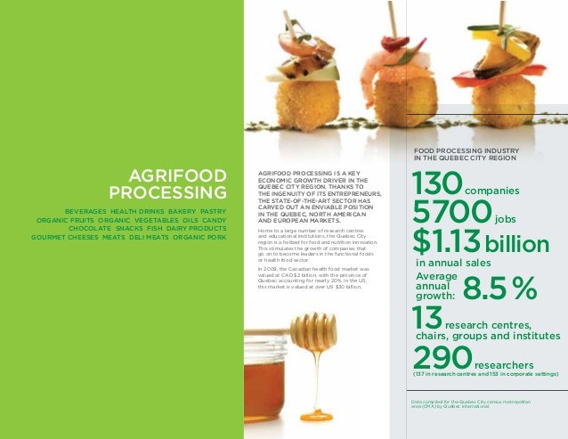 AGRIFOOD PROCESSING IS A KEY ECONOMIC GROWTH DRIVER IN THE QUEBEC CITY REGION. THANKS TO THE INGENUITY OF ITS ENTREPRENEUR...