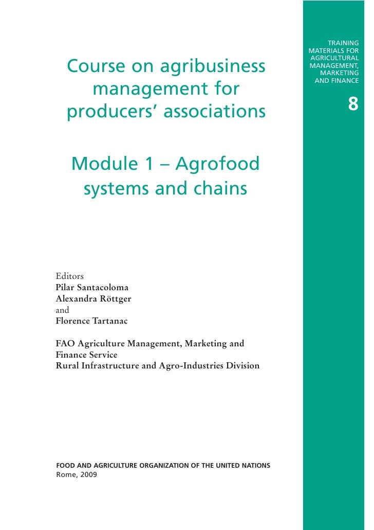Agrofood Systems and Chains
