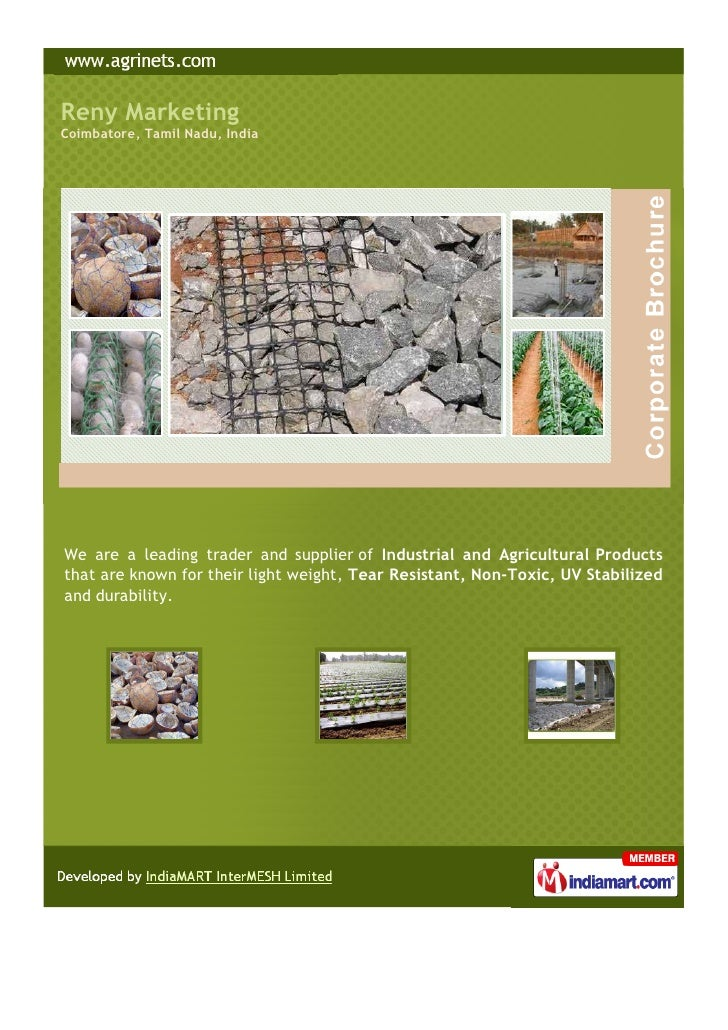 Reny Marketing : Agricultural Products, Coimbatore