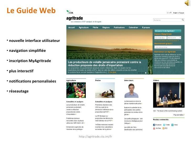 <ul><li>Le Guide Web </li></ul><ul><li>nouvelle interface utilisateur </li></ul><ul><li>navigation simplifiée </li></ul><u...