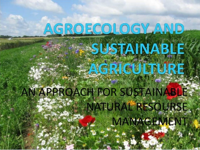 AN APPROACH FOR SUSTAINABLE NATURAL RESOURSE MANAGEMENT