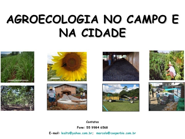 agroecologia no campo e na cidade ifrs canoas