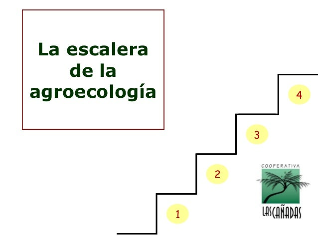 La escalera de la agroecología  4 3 2 1