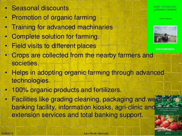 Business plan for organic farming