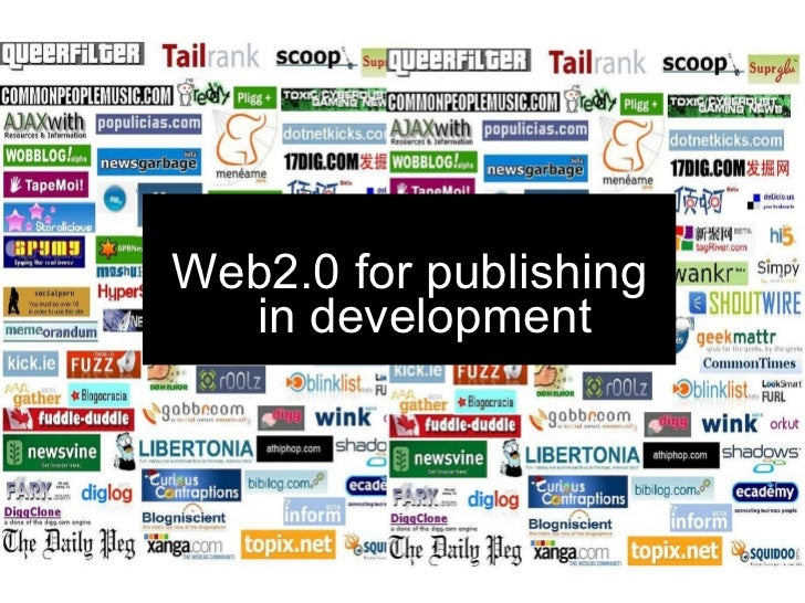 Web2.0 for publishers in development