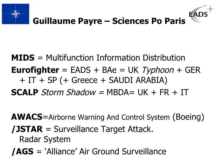 <ul><li>Guillaume Payre – Sciences Po Paris </li></ul><ul><li>MIDS  = Multifunction Information Distribution </li></ul><ul...