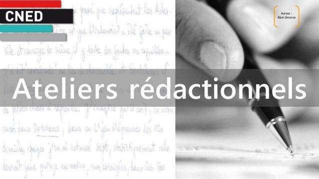 Auteur : Alain Grosrey Ateliers rédactionnels