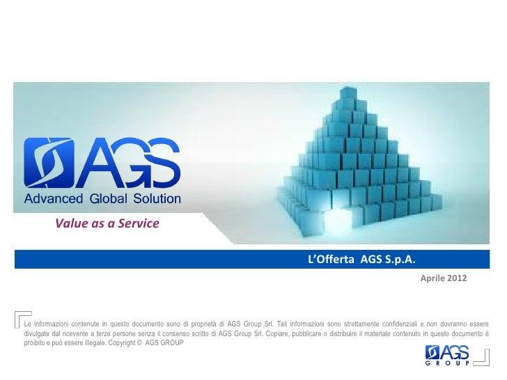 Ags spa offerta soluzioni