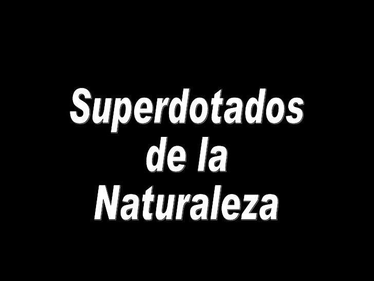 Superdotados de la Naturaleza