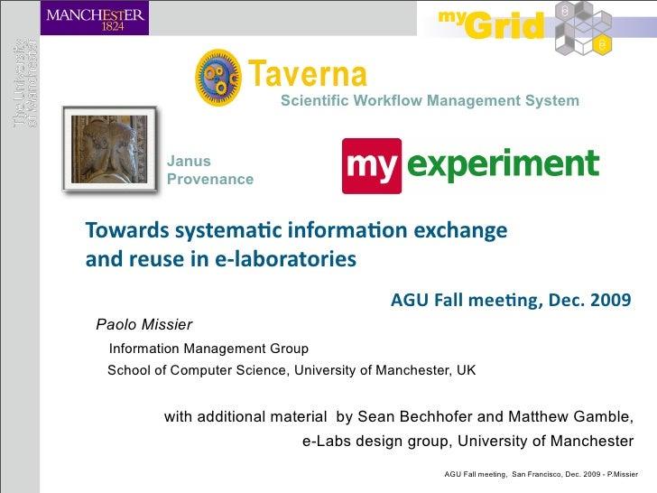 Session talk @ AGU09