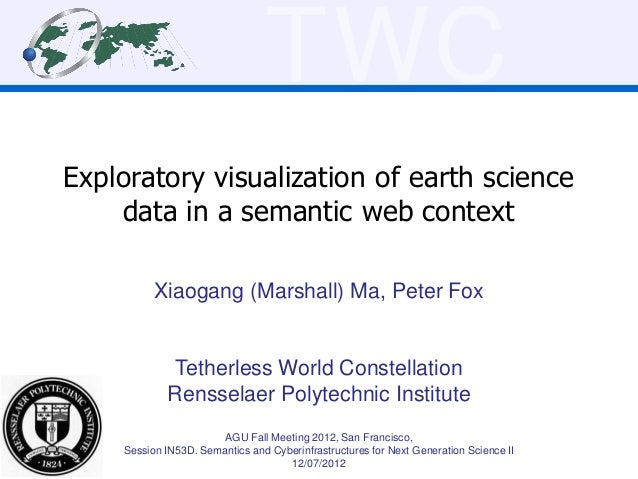 TWCExploratory visualization of earth science    data in a semantic web context          Xiaogang (Marshall) Ma, Peter Fox...
