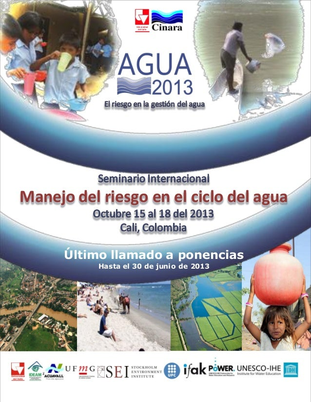 Agua 2013   seminario manejo del riesgo en el ciclo del agua