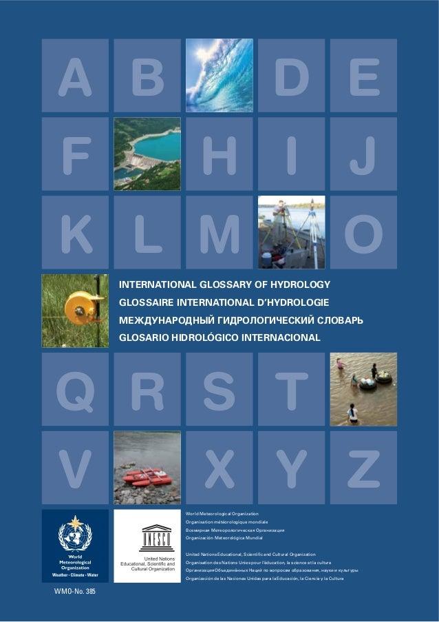 Agua glosario internacional de hidrologia