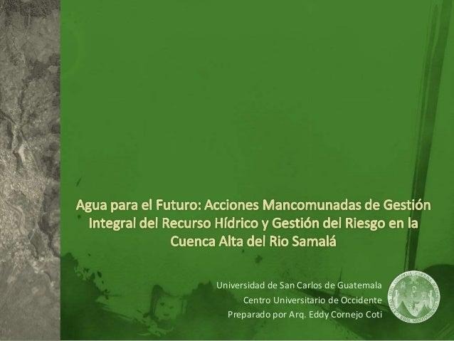 Universidad de San Carlos de Guatemala Centro Universitario de Occidente Preparado por Arq. Eddy Cornejo Coti