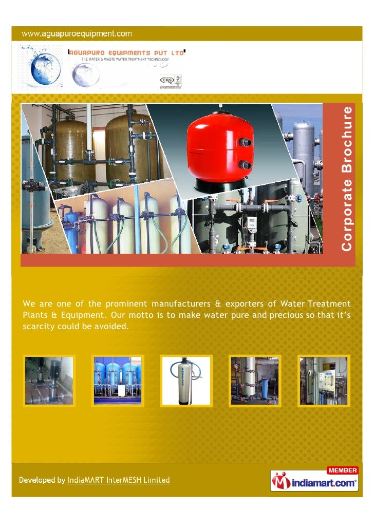 We are one of the prominent manufacturers & exporters of Water TreatmentPlants & Equipment. Our motto is to make water pur...