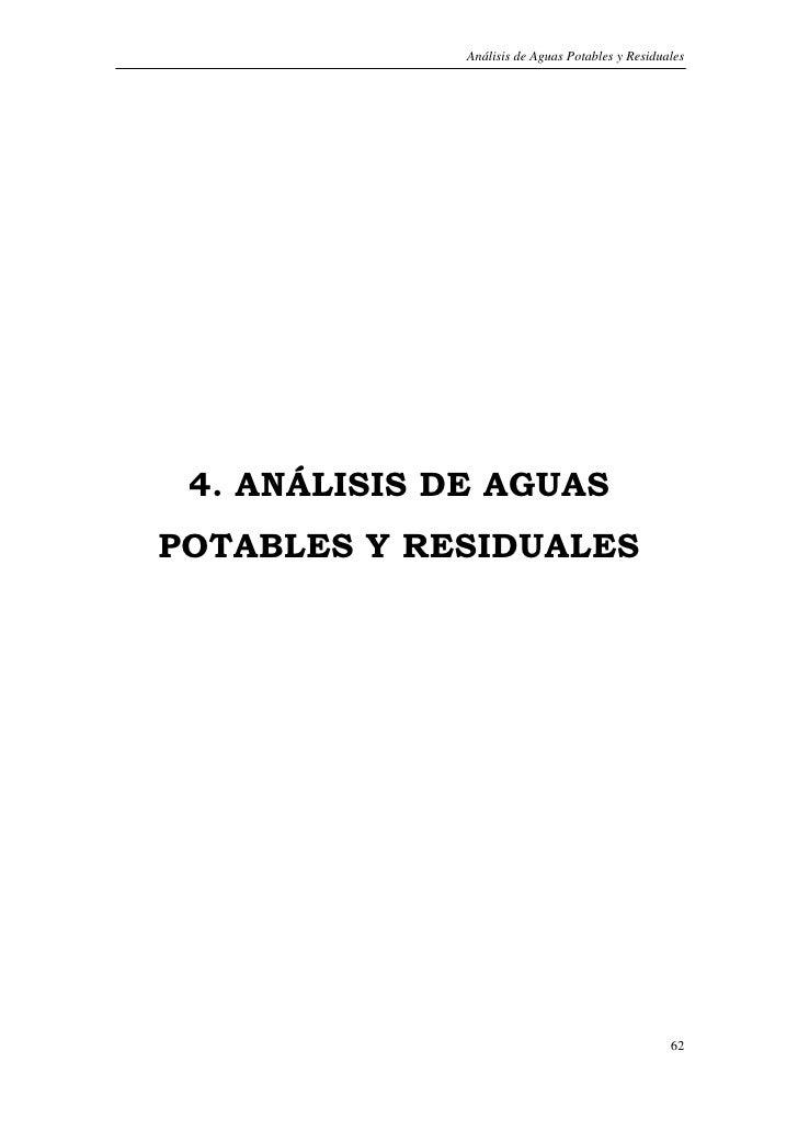 Análisis de Aguas Potables y Residuales      4. ANÁLISIS DE AGUAS POTABLES Y RESIDUALES                                   ...