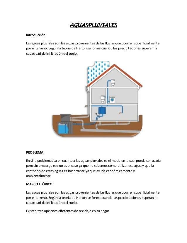 AGUASPLUVIALES Introducción Las aguas pluviales son las aguas provenientes de las lluvias que ocurren superficialmente por...