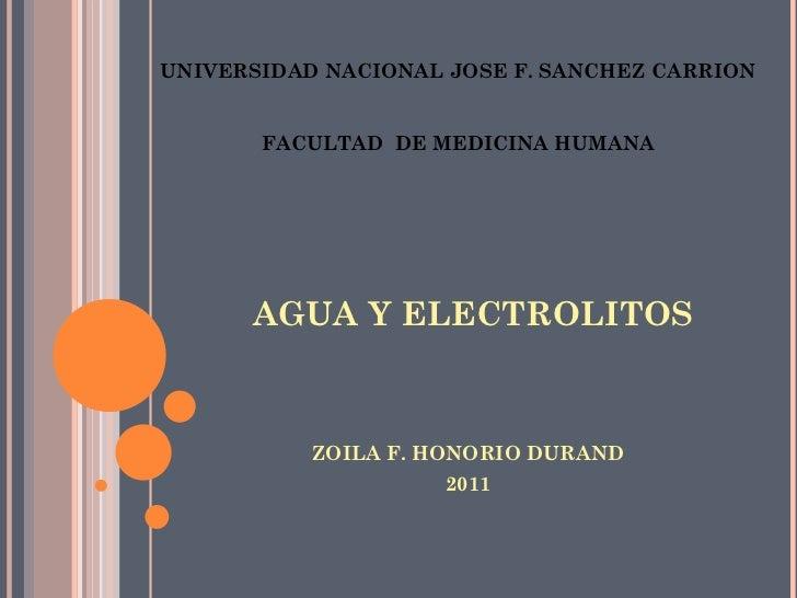 Agua y elactrolitos