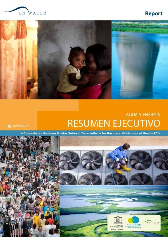 Resumen Ejecutivo Agua y Energía Informe de las Naciones Unidas Sobre el Desarrollo de los Recursos Hídricos en el Mundo 2...