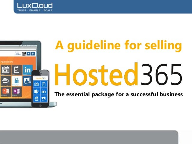 A guideline for selling Hosted365